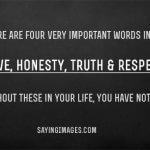 iubire, onestitate, adevăr și respect