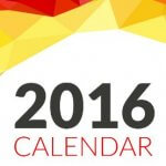Calendar 2016 – Zile Libere și Evenimente