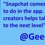 Snapchat nu colaborează cu creatorii de conținut
